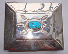 Sterling Turquoise Native American Treasure Chest Box