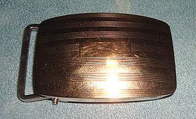 Fine CROSS Belt Buckle 14k Gold and Sterling Silver