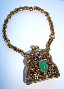Vtg Large Purse Handbag Bracelet Pendant Opens