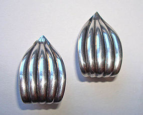 Lovely Mod Sterling Silver Earrings NAPIER Hallmarks
