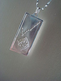 Sterling Silver Pisces Pendant Marked A & Z STERLING