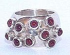 Signed Sterling Carnelian Gertrude Engel Ring DENMARK