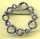 Perli Silver Mod Brooch circa 1950s GERMANY