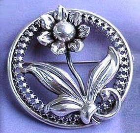 Danecraft Sterling Silver Brooch c. 1950�s