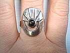 Signed Taxco Mexico Sterling Onyx Ring Markings