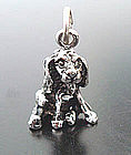 Vintage Sterling Silver Cocker Spaniel Dog Charm 3D