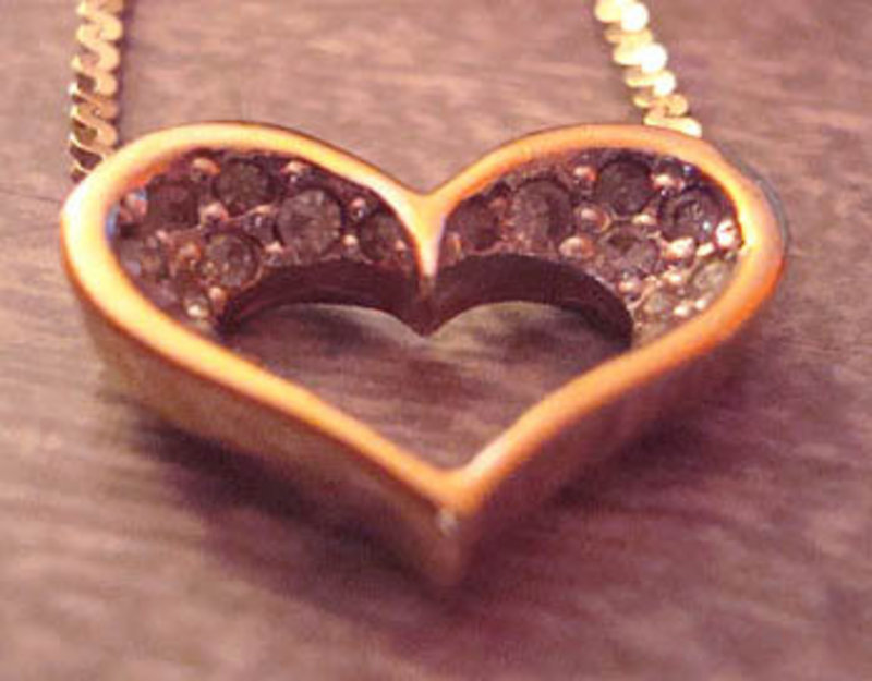 Lovely PANETTA Necklace Heart Pendant with Stones