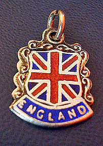 Silver Enamel United Kingdom England Charm Pendant