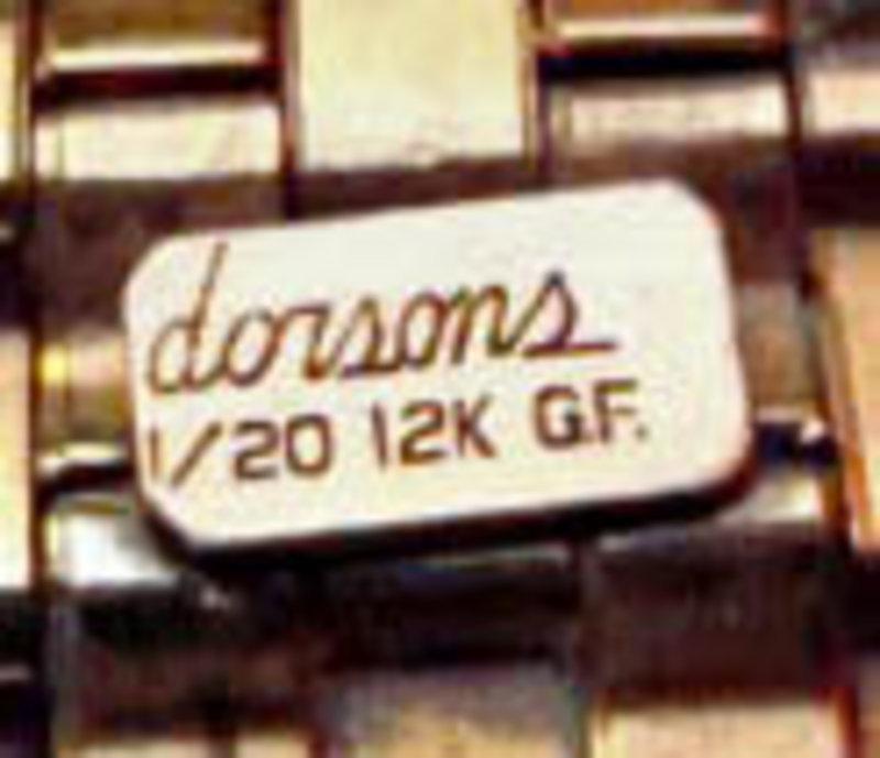 Dorsons Clip Rose Gold Fill Sterling Rhinestone 1940's