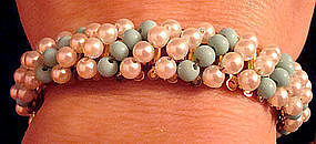Fine Hobe Bracelet with Pearls and Turquoise c. 1950's