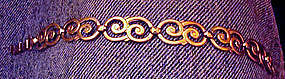 Vtg Art Deco Silver Gold Vermeil Bracelet Marked