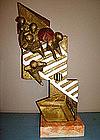 """Bronze Abstract Sculpture """"Crosswalk"""" by Montenegro"""