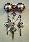 Fine Scandinavian Solje Brooch 830 Silver Enamel