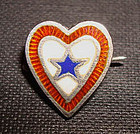 Fine WW2 Son of Service Sweetheart Sterling Enamel Pin