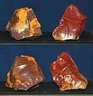 2 Neanderthal jasper flake cores
