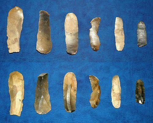 6 Danish Mesolithic blades