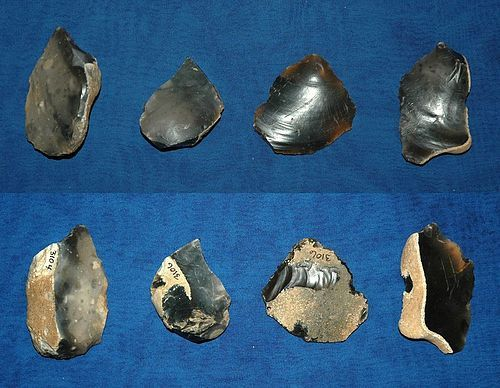4 English Mesolithic/Neolithic flake tools