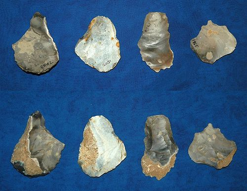 4 English Mesolithic tools