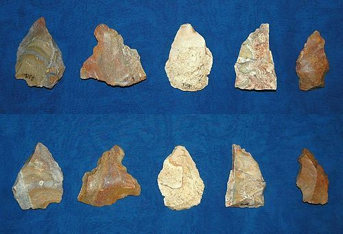 5 various stone tools, Native American Archaic period