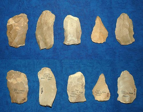 5 Neanderthal flake tools from Galilee