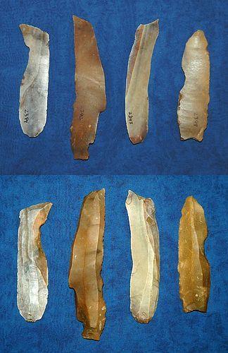 4 Danish Mesolithic blades