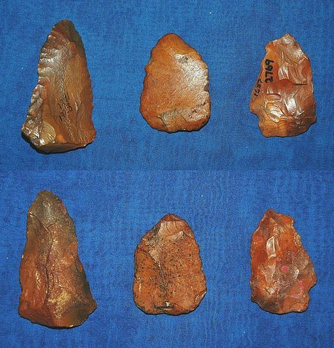 3 Native American Paleolithic biface tools