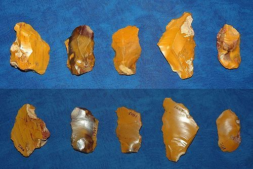 5 Neanderthal tools from Fontmaure, France