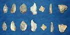 6 Neolithic English tools and one1 small Neolithic core