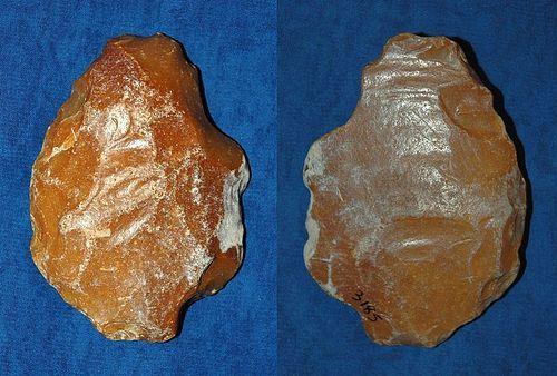 Fine Lower Paleolithic Acheulean biface axe