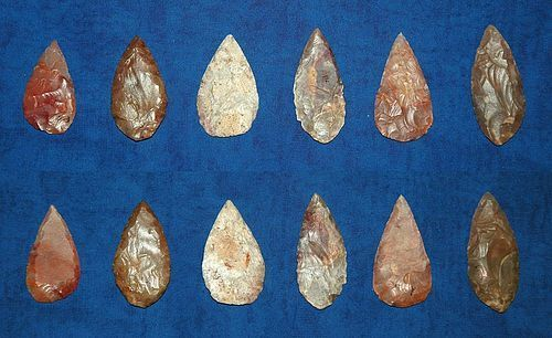 6 Neolithic Willow-leaf points