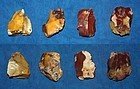 4 Neanderthal flake cores
