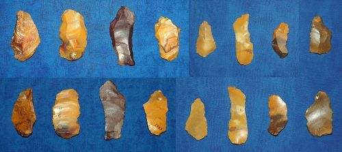 8 various Neanderthal tools from Fontmaure