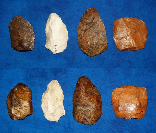 4 North American Paleolithic tools