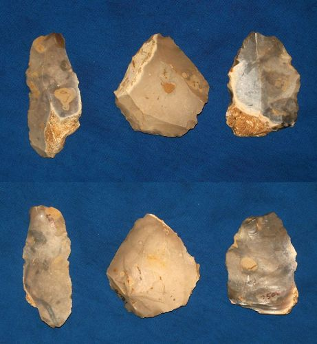 3 Mesolithic tools from South Wiltshire, England