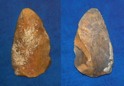 North American Paleolithic Partial Biface Scraper