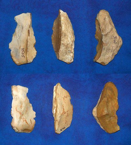 Three neanderthal Scrapers