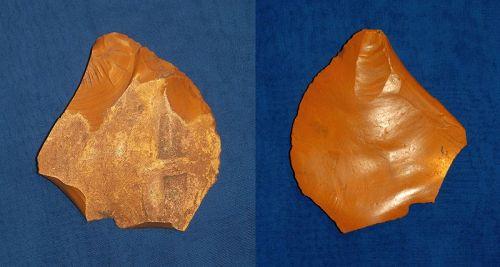 Large Neandethal Convex Scraper on a Flake