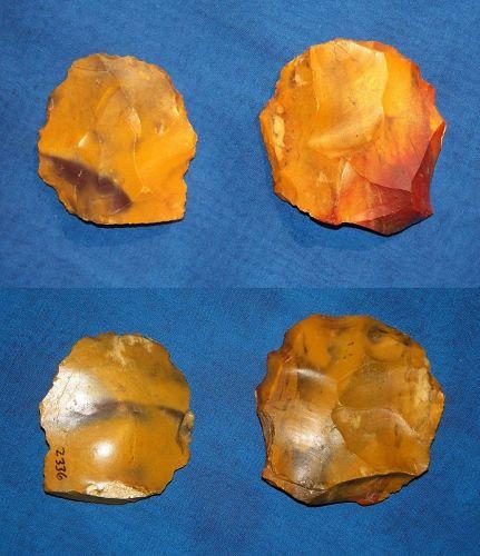 Two Neanderthal Discoid Scrapers