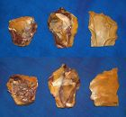Three  Neanderthal Scrapers on Flakes