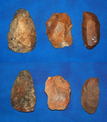 Three North American Paleolithic Scrapers