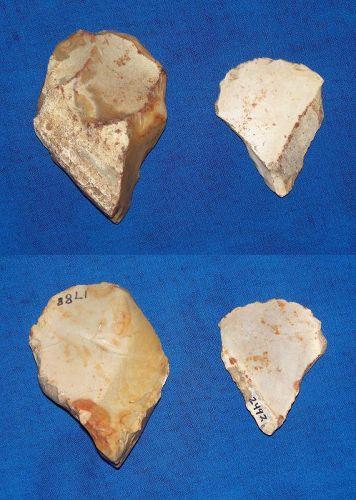 2 Neanderthal discoid scrapers