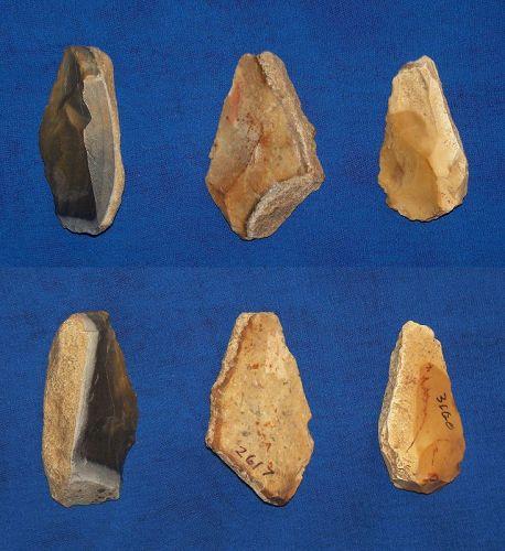 3 Neanderthal Backed Blades
