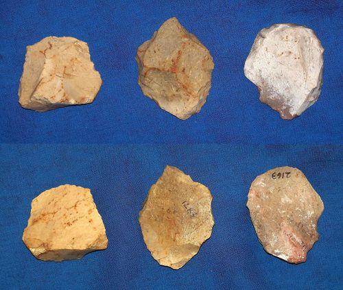 3 Neanderthal Scrapers