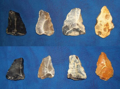 4 Neanderthal Points from Reculver, Kent, UK