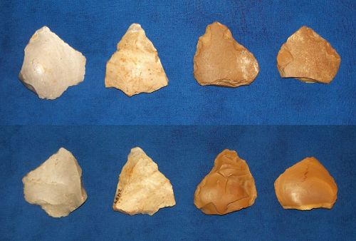 Four Neanderthal Convergent Scrapers