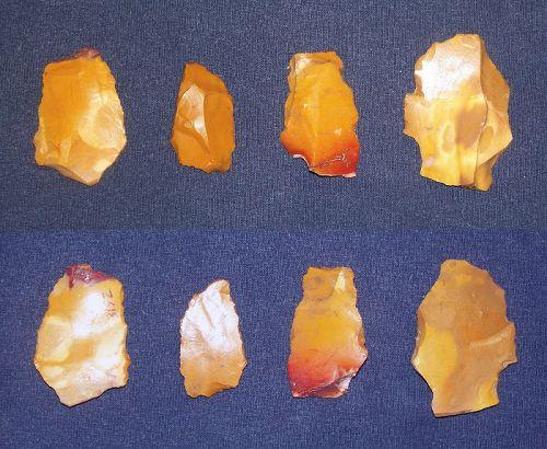 Four Neanderthal Scrapers