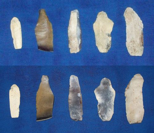 Five German Neolithic or Mesolithic Blades