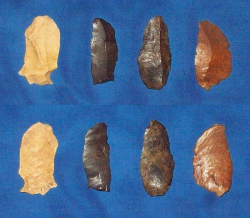 Four Paleolithic Native American Flake Blades