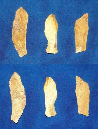 Three Native American Paleolithic Blades