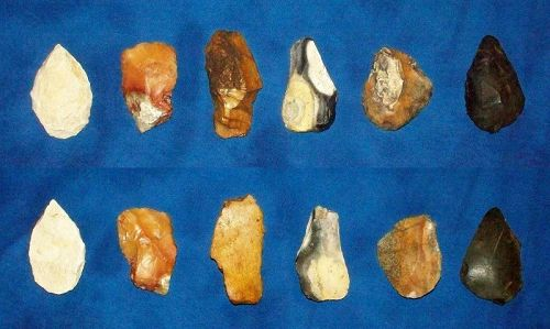 Six Native American Paleolithic Tools